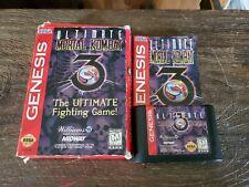 Ultimate Mortal Kombat 3 Sega Genesis CIB Complete Tested & Working Ships Free