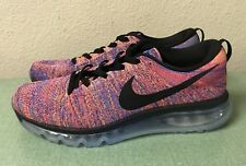 Nike Flyknit Air Max Photo Blue Concord Total Crimson Mens Sz 11 Running Shoes