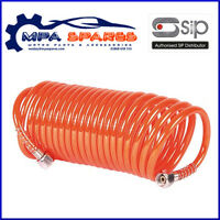 SIP 02163 5 METRE COILED AIR HOSE 200PSI - COMPRESSOR AIRLINE LINE TOOL