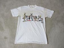 VINTAGE Looney Tunes Shirt Adult Medium White Bugs Bunny Daffy Taz 1989 80s *