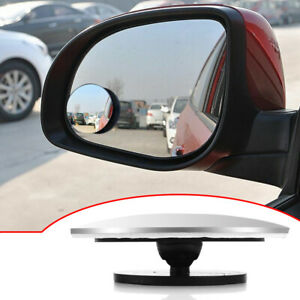 360° Rotating Car Rear View Mirror Wide Angle Convex Blind Spot Accessories x1