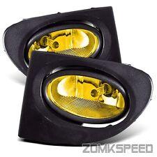 Fits 02-05 Honda Civic Si Hatchback EP3 JDM Yellow Fog Light Bumper Driving Lamp