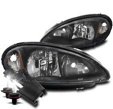 FOR 01-05 CHRYSLER PT CRUISER REPLACEMENT HEADLIGHTS LAMP BLACK W/50W 8K HID KIT