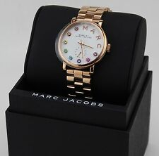NEW AUTHENTIC MARC BY MARC JACOBS BAKER ROSE GOLD CRYSTALS WOMEN'S MBM3441 WATCH