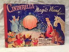 The Cinderella Magic Wand Book - 1st/1st 1950 - From the Walt Disney Film