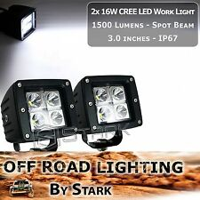 """16W 3""""x 3"""" CREE High Power LED Work Light Lamp Spot 4WD Boat Offroad 3,000Lm(B)"""