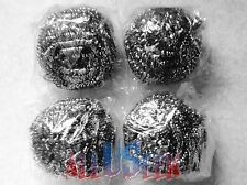 New Pot Scrubbers SS Stainless Steel Mesh Kitchen Metal Grill Pan Cleaner 4 Pack
