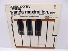 "Wanda Maximillien - Piano - ""Contemporary Music -  Dallapiccola & Moevs Vinyl LP"