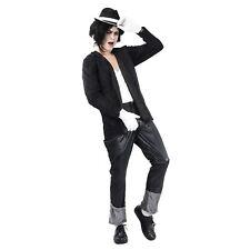Homme S noir costume blanc années 80 superstar Chanteur Danseur