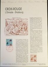 FRANCE MUSEE POSTAL FDC 37-92    CROIX ROUGE L ENTRAIDE   2,50F  STRASBOURG 1992