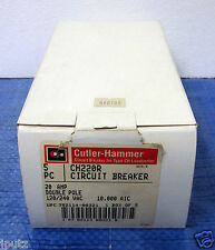 CH220 - 5 Pieces Cutler Hammer 2P 20A 120/240V Circuit Breakers - CH220R NEW!!!