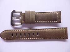 Europe Shop - 22mm Watch Strap Band - 22/20mm Vintage Leather Panerai Style