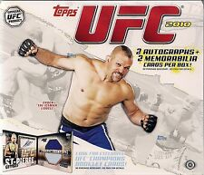 2010 Topps UFC ROUND 4 Factory Sealed Hobby 1 Box 16pks