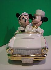 LENOX Disney MICKEY MINNIE'S DREAM HONEYMOON Car NEW in BOX withCOA Wedding Cake