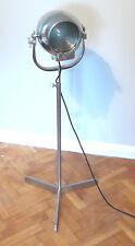 50s VINTAGE THEATER LIGHT STUDIO FLOOR SPOT LAMP INDUSTRIAL ANTIQUE RETRO STRAND