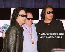 GENE SIMMONS  KISS  PAUL STANLEY CHIP GANASSI 8X10 PHOTO NASCAR HOMESTEAD MIAMI