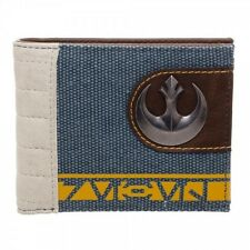 OFFICIAL STAR WARS REBEL ALLIANCE SYMBOL MIXED MATERIAL BI-FOLD WALLET (NEW)