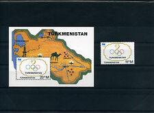 TURKMENISTAN 1994 CIO OLIMPIC 1 VALORE + BLOCK  NUOVI MNH NEW