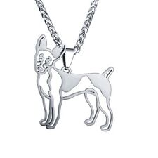 American Rat Terrier Rt Rattie R-Poodle Pet Dog Collar Charm Pendant Necklace