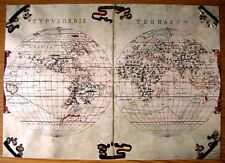 A BEAUTIFUL & COLLECTABLE REPRODUCTION ON CARD OF THE WORLD TRAMONTANA OF 1587