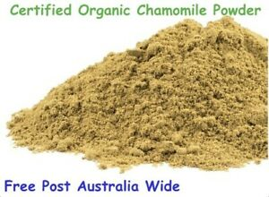 Chamomile Flower Powder Certified Organic 50g (Matricaria recutita) Free Post