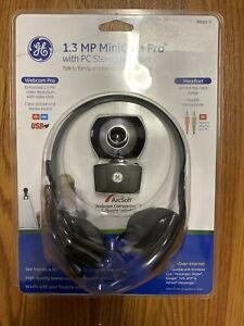 GE 1.3 MP Minicam Pro Webcam with PC Stereo Headset - NEW & SEALED