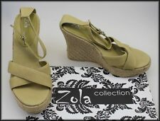 ZOLA WOMEN'S WEDGE HEELS STRAPPY OPEN-TOE FASHION SANDALS SHOES SIZE 8, EUR 39