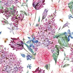 20 Paper Party Napkins Flower Composition Pack of 20 3 Ply Serviettes