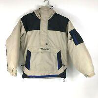 COLUMBIA Sportswear Parka Jacket Ski Snow Sport Beige Black Blue Mens Small