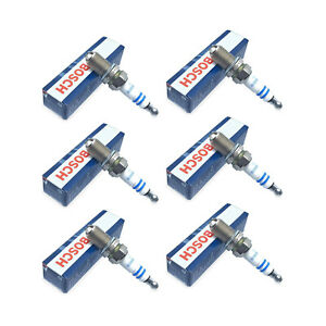 Set of 6 Spark Plugs Bosch For Audi A4 A6 Quattro BMW E30 E34 E36 Honda Accord