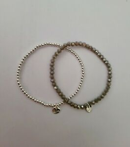 Biba Damen Crystal Armband taupe silber (529)