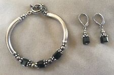 Sterling Silver Matching Earrings and Bracelet - Kathy Balestra Designs
