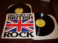 History Of British Rock , 1976  Sire Press. VG To VG++ Cond.