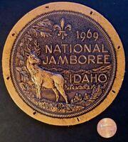 1969 NATIONAL JAMBOREE LEATHER PATCH BSA FLAP
