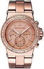 MICHAEL KORS Dylan Rose Gold Chronograph Crystal Bezel Women's Watch MK5412