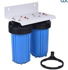 "Dual Big Blue Water KDF55/GAC and Sediment Filters System w/Bracket 4.5 x 10"""