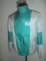vintage 80er Jahre PUMA Nylon Jacke gym sportjacke oldschool 80s glanz 48 M