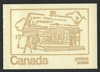 Canada BK69f: QEII Centennial 1c, 6c, 8c (book of 6, HF) OP-2 clear, Post Office