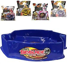 Ultimate Large Blue Pegasus Beystadium Set 4 Beyblades w/ Launchers + Stadium