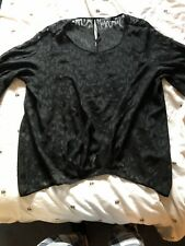 Size 18 Black Leopard Print Sheer Top