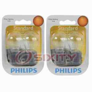 2 pc Philips Front Turn Signal Light Bulbs for Plymouth Acclaim Grand ji