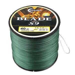 Dorisea 100M-1000M 9 Strands Blade Moss Green Power PE Round Braid Fishing Line