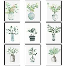 Modern Green Plants Art Prints Poster Picture Bedroom Wall Art Decor