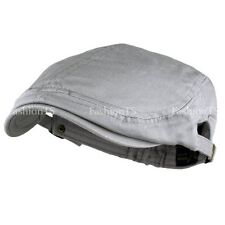 Classic Plain 100% Cotton Gatsby Cap Newsboy Ivy Hat Summer Golf Hat Cabbie 002