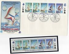 America'S Cup, 9 different 1987 Covers - Solomon Islands Include 5 Mint Stamps