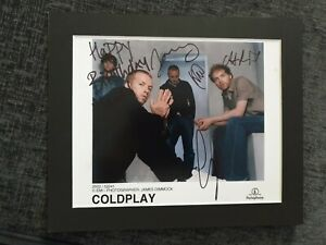 COLDPLAY Signed 10 X 8 mounted
