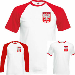 Polska Eagle Orzel Mens Polish Football T-Shirt Poland World Cup 2018 Flag Chest
