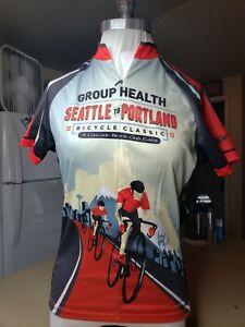 PRIMAL Sport Cut Raglan Cycling Jersey Biking Triathlon Women's Sz L