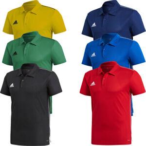 Adidas Mens Core 18 Polo T-Shirts TShirt T Shirt Short Sleeve Tops Climalite