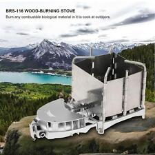 BRS PORTABLE OUTDOOR CAMPING WOOD-BURNING STOVE CHARCOAL BURNER BLOWER NEW G5N3